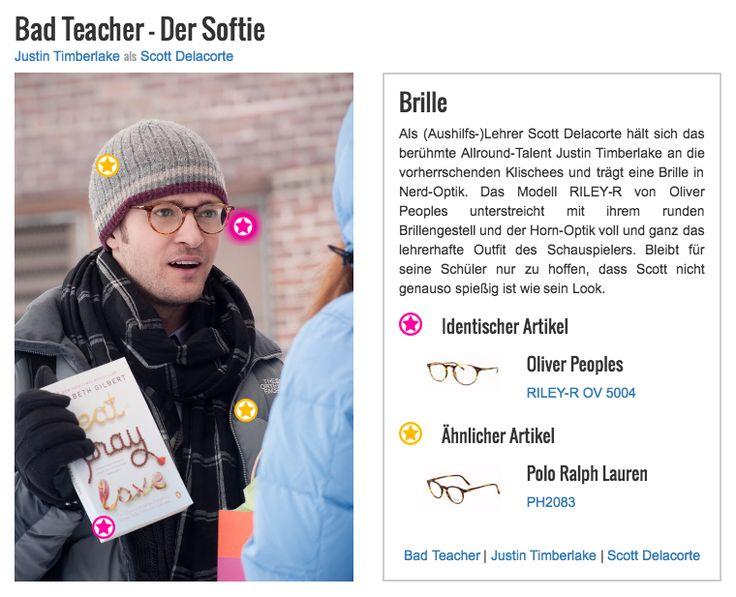 Als (Aushilfs-)Lehrer Scott Delacorte hält sich das berühmte Allround-Talent Justin Timberlake an die vorherrschenden Klischees und trägt eine Brille in Nerd-Optik. Das Modell RILEY-R von Oliver Peoples unterstreicht mit ihrem runden Brillengestell und der Horn-Optik voll und ganz das lehrerhafte Outfit des Schauspielers. Bleibt für seine Schüler nur zu hoffen, dass Scott nicht genauso spießig ist wie sein Look.