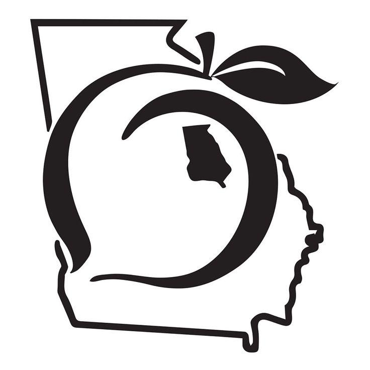 Georgia peach state pride vinyl decal sticker custom glitter pink uga ga love peaches in your dreams boutique shop