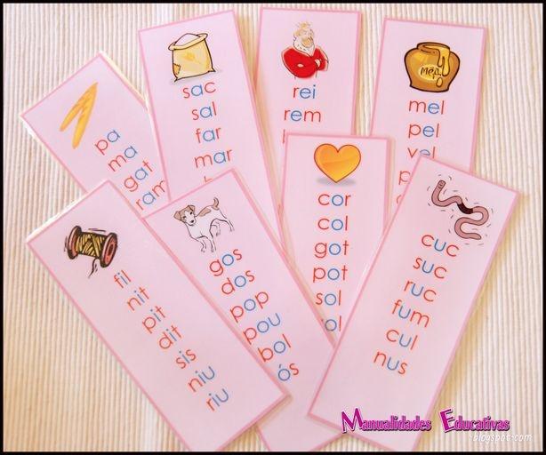 Manualidades Educativas: Serie Rosa Montessori - Listas de palabras (para imprimir)
