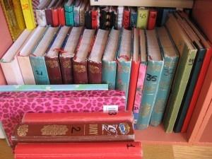 Jessie heeft heel veel dagboeken. Ze schrijft alles wat er gebeurd is daarin op.