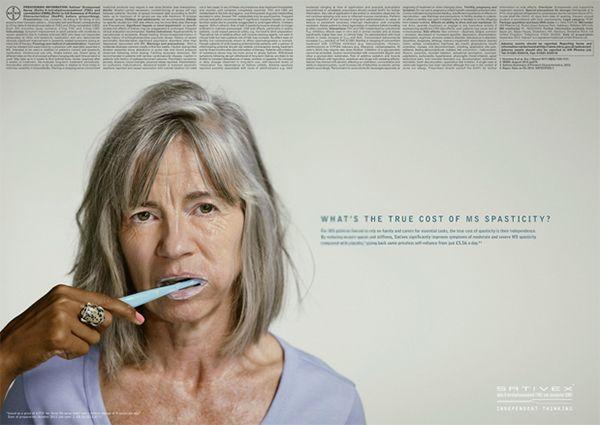 バイエル SATIVEX(多発性硬化症治療薬)「TOOTHBRUSH」「SHAMPOO」「TEA」  (LANGLAND Windsor/英国)   関節リウマチ患者であるケイト・ジャクソンの日常生活をまとめたフィクションムービー。 リウマチ治療薬のSimponiの投与が、日常生...