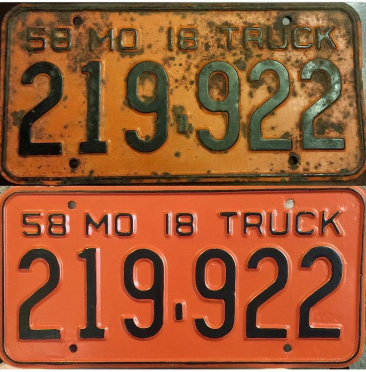 1958 License Plate Plate Collection and Restoration. 1958 Arkansas ...