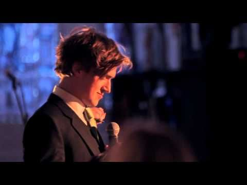 Most beautiful wedding speech using songs. By Tom Fletcher, one of the McFly singers. <3 I cried a bit... just a bit :__)