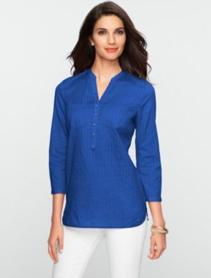 Talbots - Leno-Stripe Shirt | Tunics | Misses