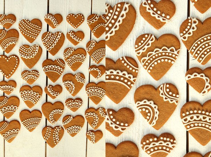 Simple gingerbread cookie decorations