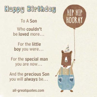Birthday Card For Son Quotes Quotesgram Birthday Cards For Son Happy Birthday Son Birthday Card Sayings