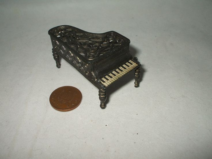 Vintage Dolls House Smaller Scale Metal Piano | eBay