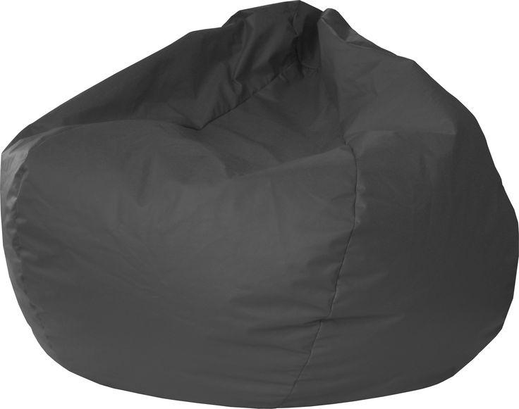 Gold Medal Leather Look Vinyl Bean Bag Medium Tween Black