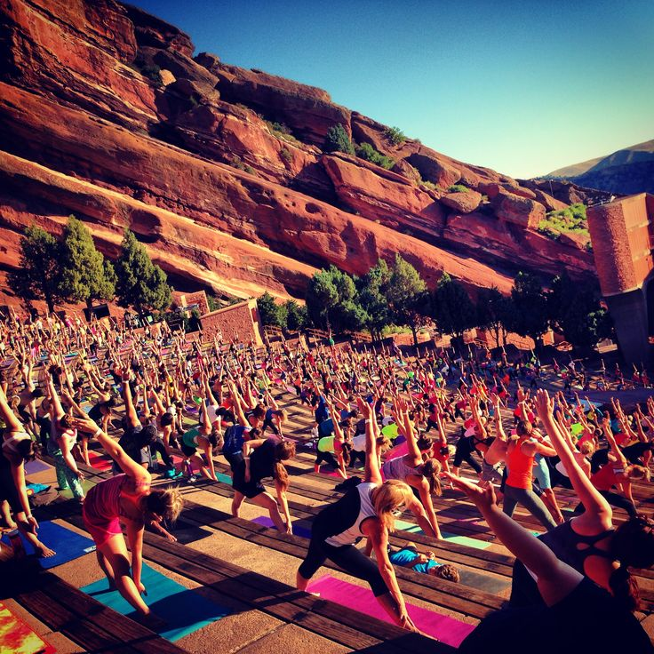 Getting fit never felt (or looked) so good. Red Rocks Park & Amphitheatre, the iconic music venue where everyone from the Beatles to U2 to Denver's own Lumineers has performed, hosts early morning yoga throughout the summer.