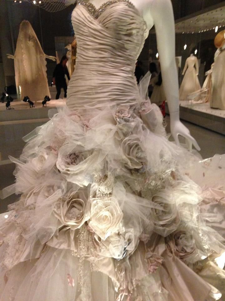 Ian stuart flower bomb dress in a fashion show