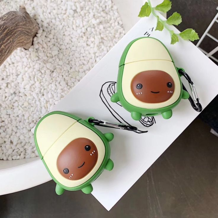 Apple airpods avocado shaped case with images airpod