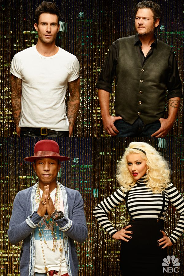 Adam Levine, Blake Shelton, Pharrell Williams, and Christina Aguilera come together for a new season of The Voice on February 23, 2015 at 8/7c on NBC! Dreams will come true. Coaches will inspire. You will fall in love. Watch a FIRST LOOK video now on YouTube.