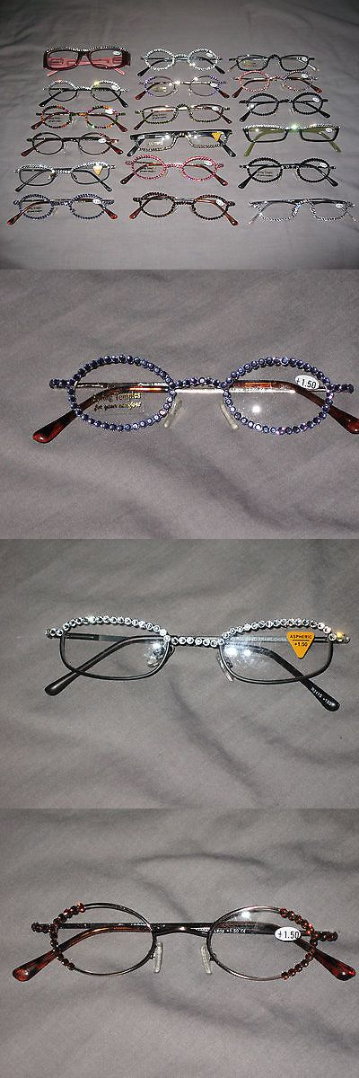 Reading Glasses: Swarovski Crystal Jeweled Reading Glasses Bling +1.50 New! -> BUY IT NOW ONLY: $34.65 on eBay!