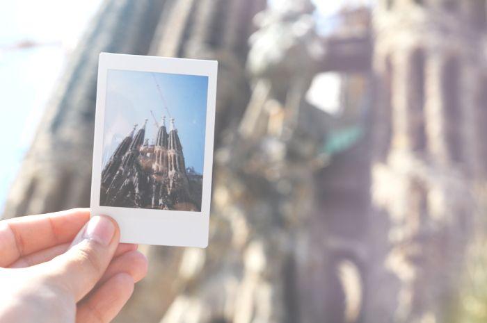 Sagrada Famillia / Barcelona / travel / Spain / polaroid