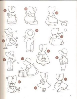 Free Sunbonnet Sue Patterns Downloads | Dina Inspirações
