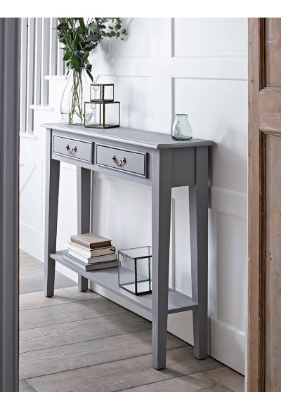Grey Console Table - Indoor Living