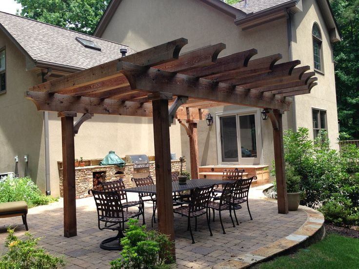 66 best images about pergola designs on pinterest stone for Garden patio designs pictures