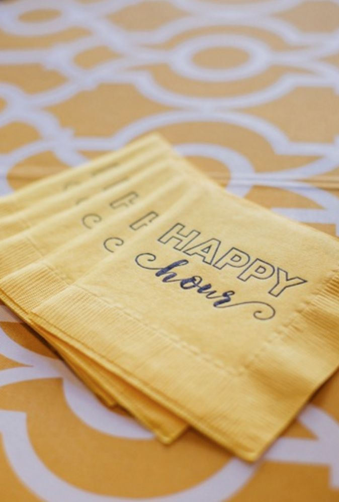 Love these happy hour napkins