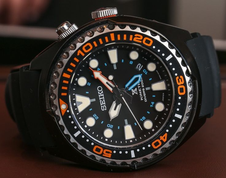 Hands-on look at the 2014 Seiko Propex Kinetic GMT Diver's 200m ref. SUN019, SUN021, and SUN023 watches.