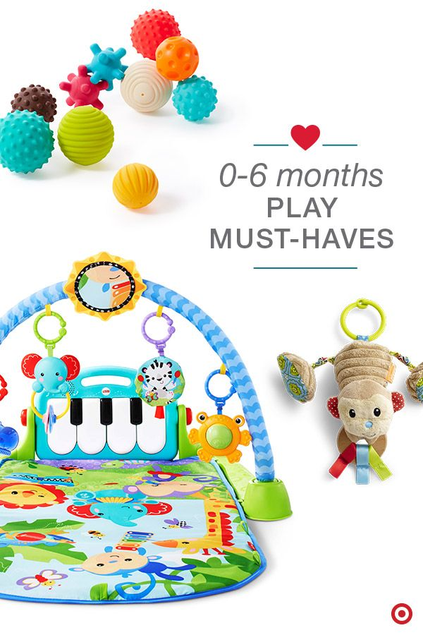 Help your baby discover and learn through play. There are lots of toys that will engage, amuse and stimulate your little one. Try toys like Infantino Go GaGa toys (available exclusively at Target) and Baby Einstein toys and play mats. Each provides endless fun with lights, music, textures, bright colors and more. Time to build your Baby Registry with these fun, developmental toys and more.