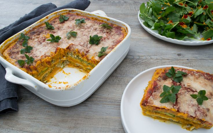 Pumpkin Lasagne (with lots of twists) - this vegetable loaded lasagne is quick and easy to make. Includes variations for vegan, dairy, egg and gluten-free.