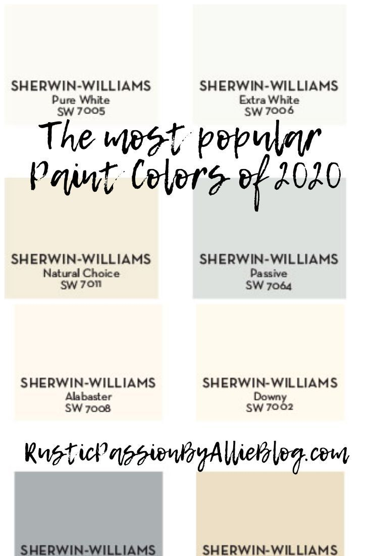 Pottery Barn Sherwin Williams Farmhouse Neutral Paint Color Guide In 2020 Popular Paint Colors Most Popular Paint Colors Bedroom Paint Colors Master