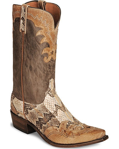 Men's Wingtip Rattle Snake Boot