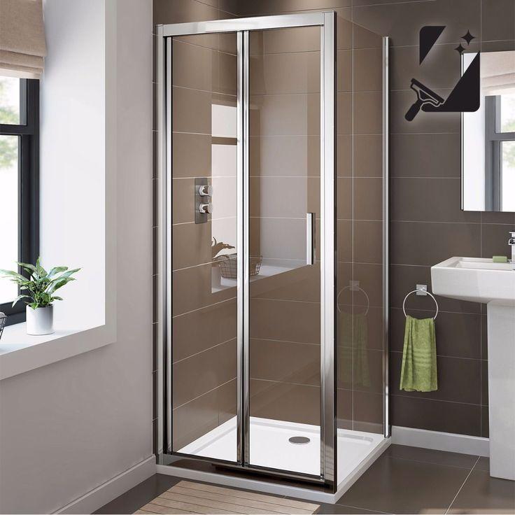 Douchecabine Vierkant Vouwdeur Luxe EasyClean 6 mm Glas - 90 x 76 cm  Douchedeur vouwbaar Scherm de douche af en maak een mooie ontspannen waterhoek. Houd de douchewarmte binnen! En de spetters: de badkamer blijft netjes droog. Ideaal voor op een douchebak maar je kunt hem ook op de vloer plaatsen. De douchedeur kun je handig vouwen wat ruimtebesparend werkt. Doordacht design Het glimmende aluminium frame en de roestvrij stalen greep zijn sterk. En roesten niet. Het glas is maar liefst 6 mm…