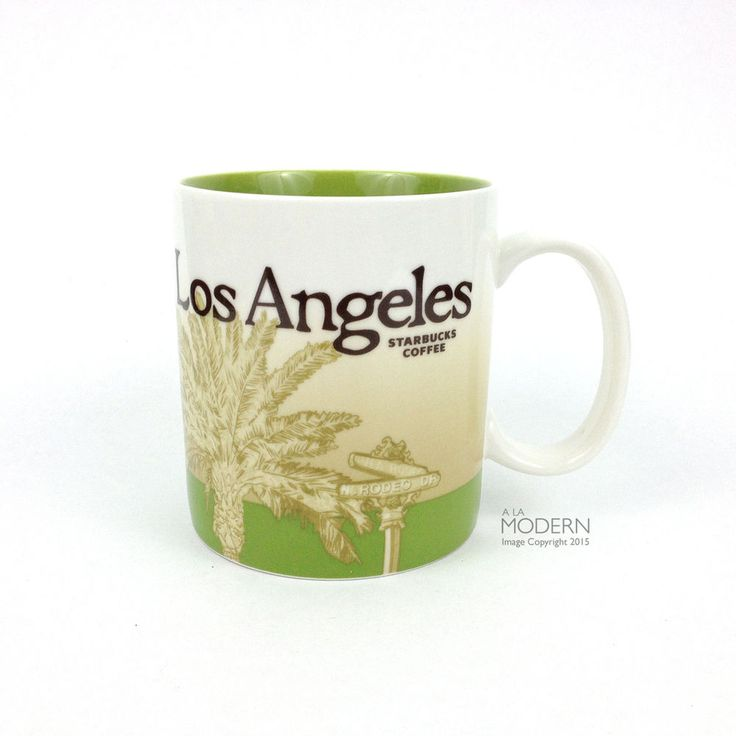Starbucks Coffee Los Angeles Collector's Series 2009 Rodeo Drive Green 16oz Mug