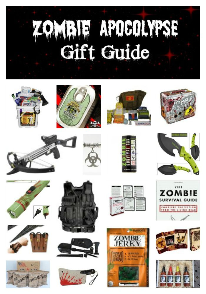 The Zombie Apocalypse Gift Guide - I have more than one friend who might like some of these.