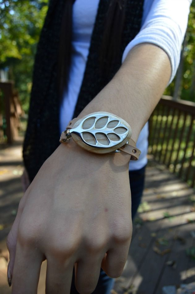 smart jewelry- beautiful leaf bracelet hides the health tracker