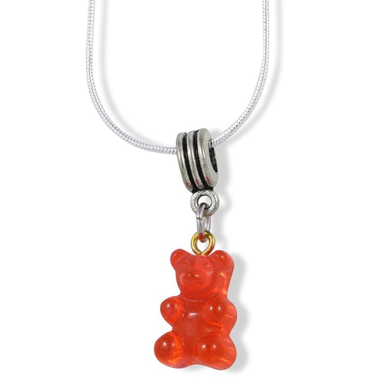 Gummy Bear Charm Snake Chain Necklace
