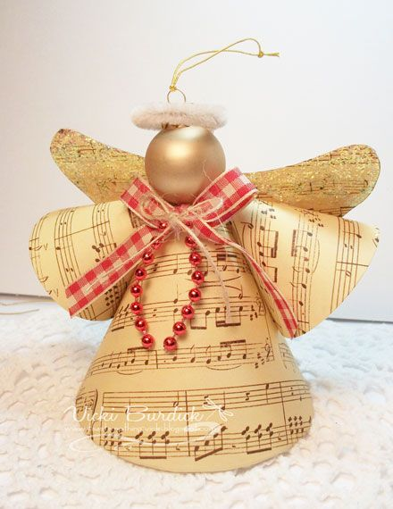 Angel ornament: Template and video for this style angel found at chocolatecraftsan...