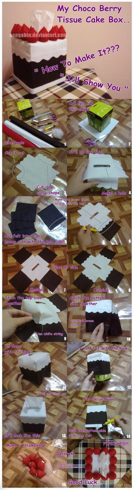 Choco Berry Tissue Bx Tutorial SongAhIn
