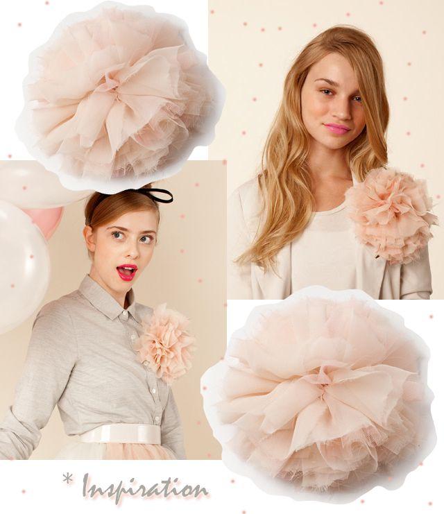 #DIY hair flowerDiy Chiffon, French Poufs, Fabrics Flower, Diy Hair Flower, Tulle Flowers, Flower Tutorial, Accessories, Flower Diy, Chiffon Flower