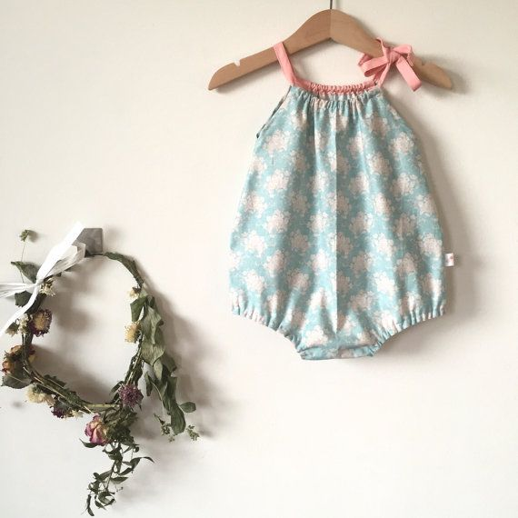 Baby playsuits Girls playsuits Baby romper by DesignToCelebrate