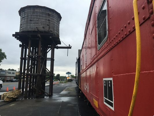 Work underway at Reading & Blue Mountain Railroad water tower | Reading Eagle - NEWS