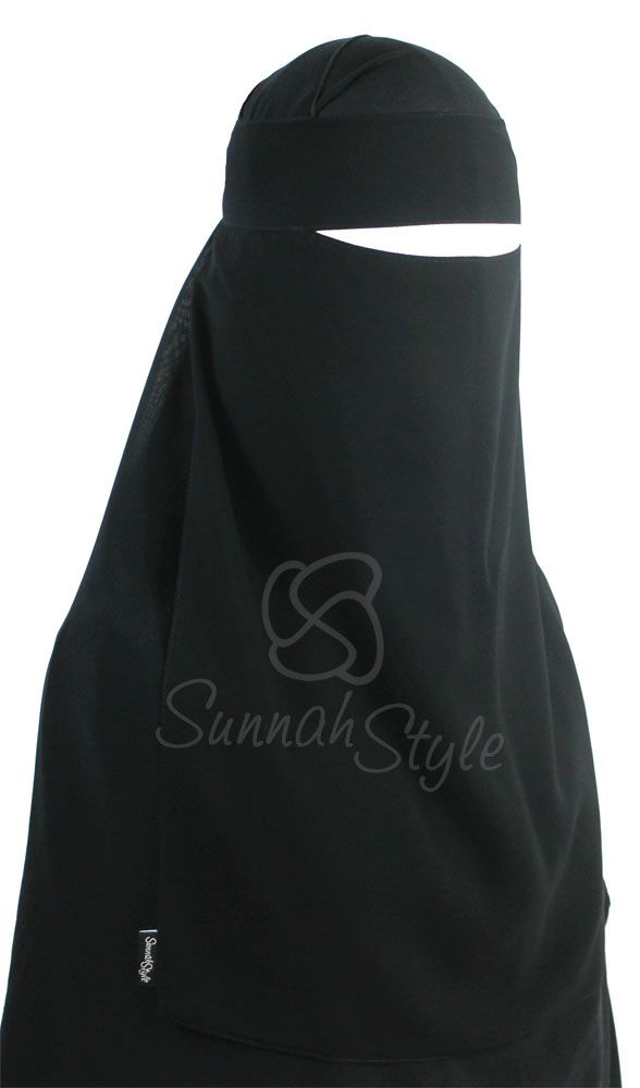 One Piece Niqab (Black) by Sunnah Style #SunnahStyle #niqabstyle