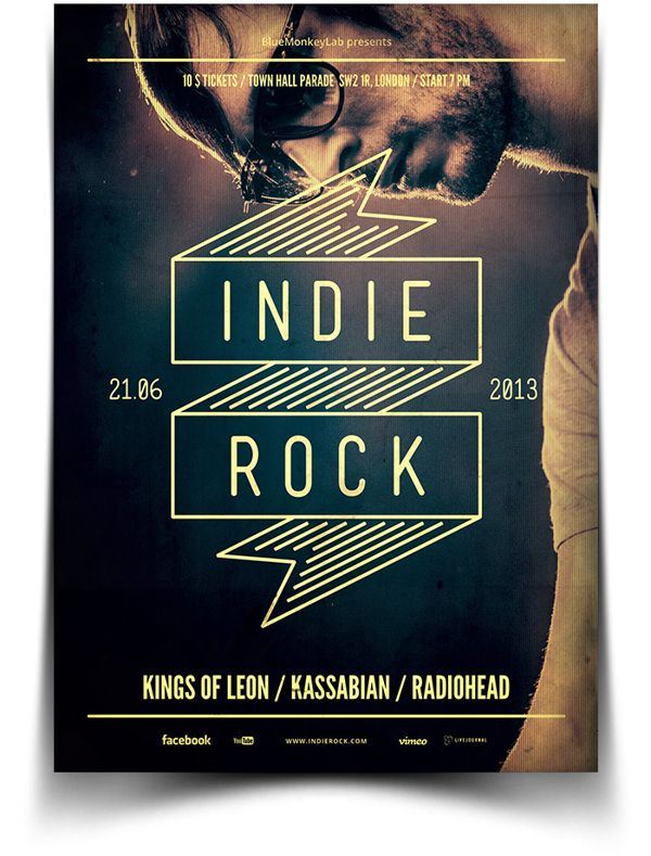 Indie Flyer / Poster 9 by BlueMonkeyLab , via Behance