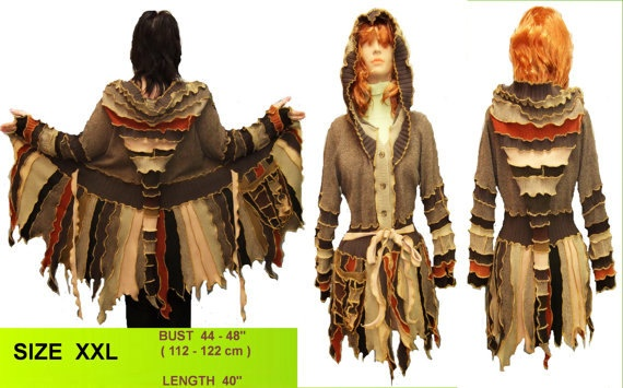 This is beautiful....I want one as my new winter coat!  http://www.etsy.com/shop/1UNIQUEDESIGN?ref=seller_info