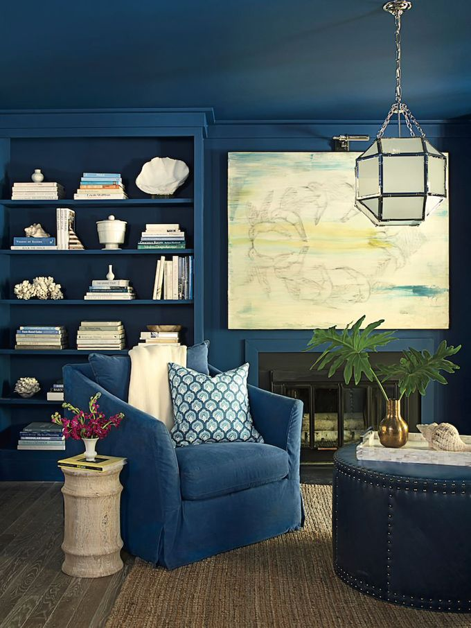 house of turquoise coastal living 2015 seagrove idea cottage - Slate Blue Living Room Ideas