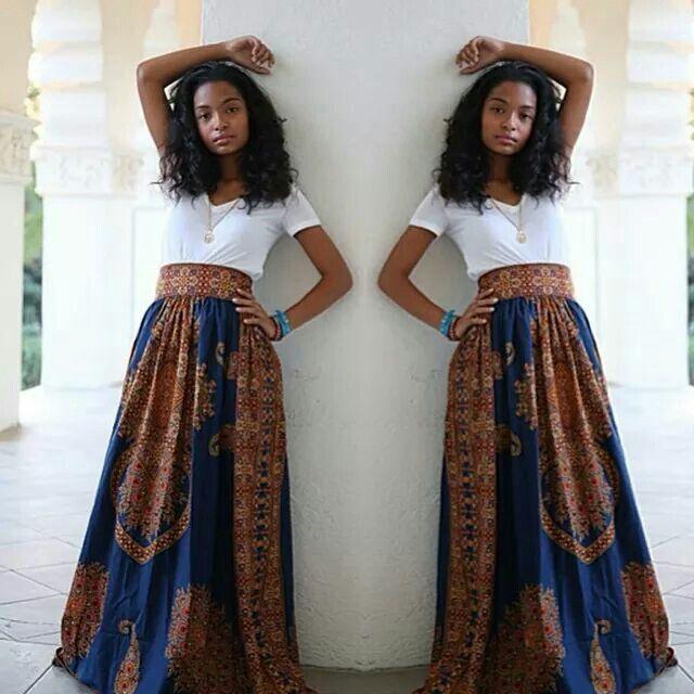 Dashiki skirt. :-D