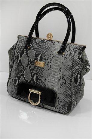 Sandıklı Deri Desenli Çanta - Gri - Hubb çanta modelleri, sırt çantası, yılan derisi, tutmalı çanta, çanta markaala.com.tr #moda #fashion #diy #tesettür #çanta