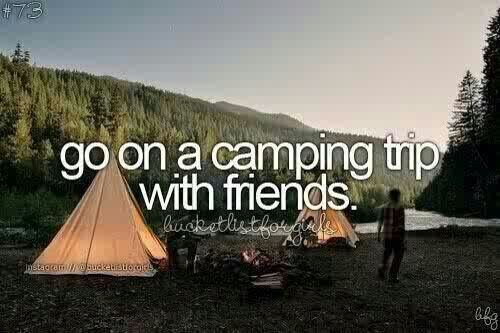 Go on a camping trip with friends.