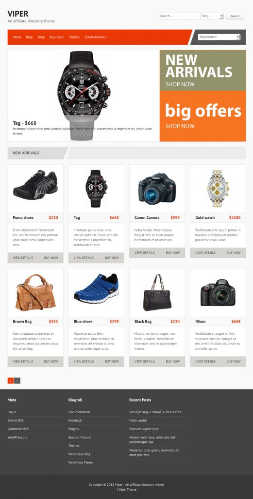 20+ Best Affiliate Themes for WordPress 2013 from OnWPThemes - a beautiful wordpress theme.