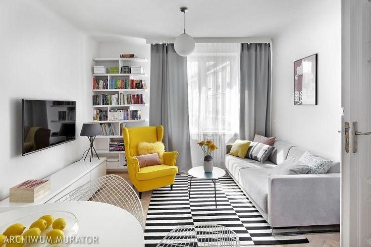 Małe mieszkanie w jasnych barwach