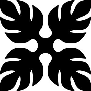 Hawaiian Quilt Tile 60 : HaoleKid                                                                                                                                                                                 Plus