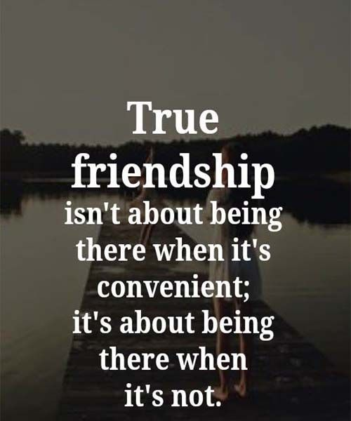 Friendship Is About Being There