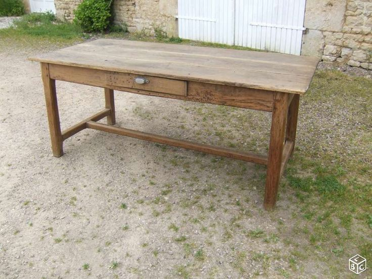 table de ferme (battage) normande chene ancienne ameublement orne