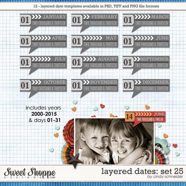Cindy's Layered Dates: Set 25 by Cindy Schneider
